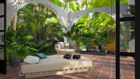 tropical patio - by Bonnie Chappell