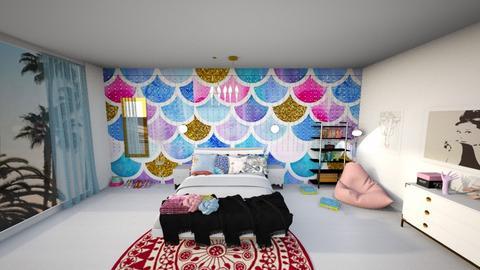 playful modern room - Bedroom - by JazzyMarie3339