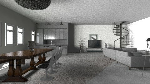 open plan studio - Minimal - by kathrynandbelle