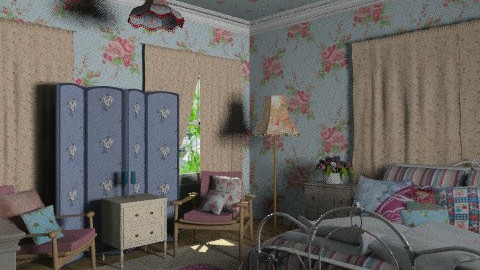 blue vintage - Vintage - Bedroom  - by chania