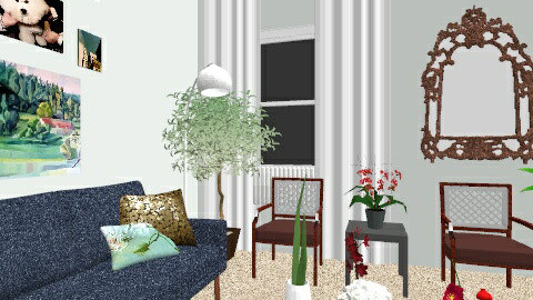 Rugless Home3 - Vintage - Living room  - by klynn