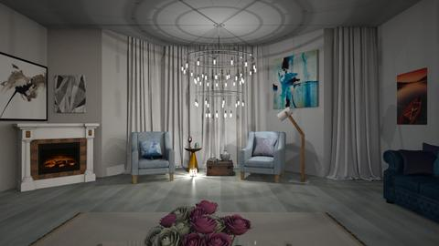 Modern Vintage Room - by beautiful luxury winter decoration