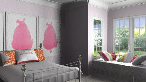Pink Bedroom - Feminine - Bedroom - by millie510