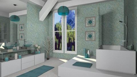 Modern alps bathroom - Modern - Bathroom  - by zarky