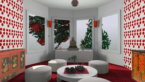 Modern oriental tea room - Modern - Living room - by sacerdote
