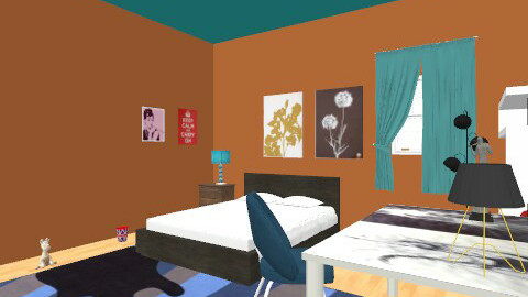 kieras room - Retro - Bedroom  - by kafoster
