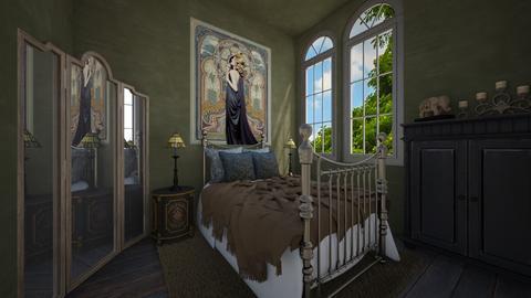 art nouveau - Bedroom  - by daydreamer84