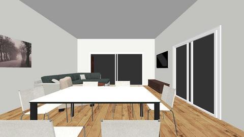 Obyvak2 - Living room  - by VendulaKovarova
