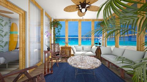 Hawaii Beach House Scr Pr - by SammyJPili