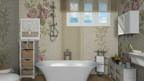 romantic mood bath  - Vintage - Bathroom  - by vesperart