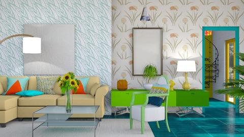 Living in colour - Modern - Living room  - by augustmoon