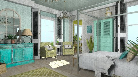 Bright Beach Cottage - Country - Bedroom  - by trjellybean