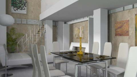 modern industrial - Modern - Living room  - by auntiehelen
