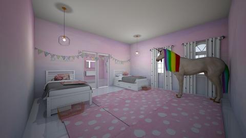 contest 2_unicorn bedroom - Bedroom  - by greekgirl37