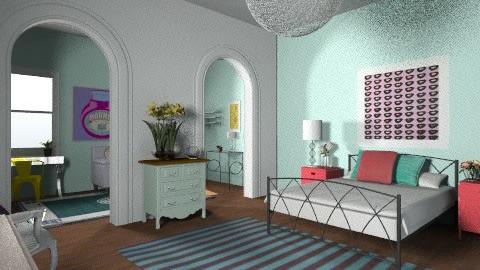 Colorful Bedroom - Eclectic - Bedroom  - by lebrendel