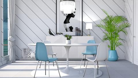 M_ Dining white - Dining room - by milyca8