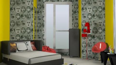 Mod - Retro - Bedroom - by alexchico