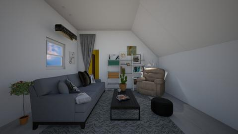 Attic Hangout Area  - Rustic - Living room  - by greekgirl37