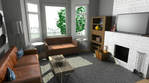 Charcoal - Vintage - Living room  - by Marxipan