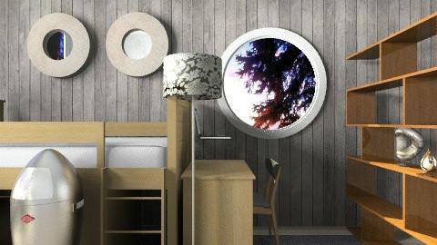 modern cabin styled room - Bedroom - by johanne_dalogdog