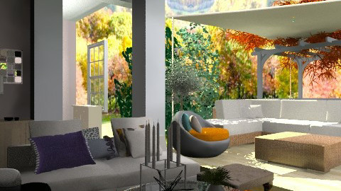 Deck View - Eclectic - Living room - by aveneym