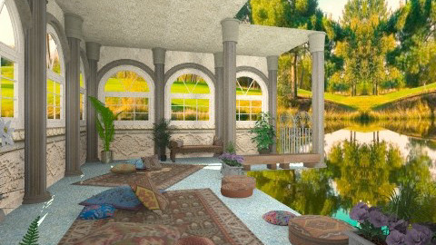 Lazy afternoon on a lake - Classic - Garden  - by Bibiche