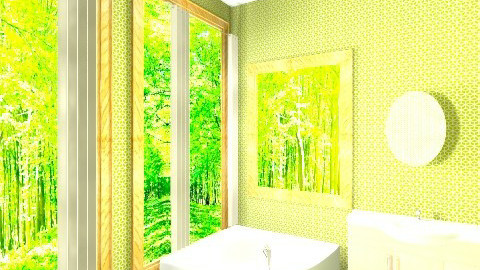 forest - Modern - Bathroom - by ohohmonica