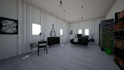 black and white - Bedroom  - by majamm