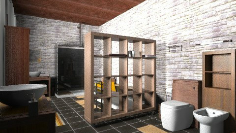 saladeban7 - Rustic - Bathroom  - by izarochaa
