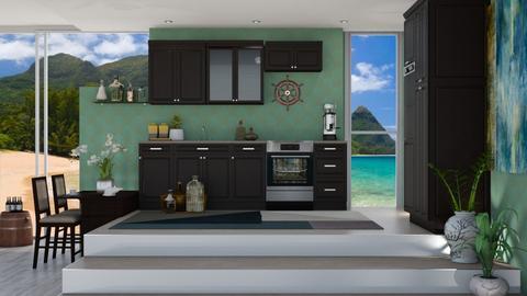 Ocean inspired kitchen - Kitchen  - by nat mi
