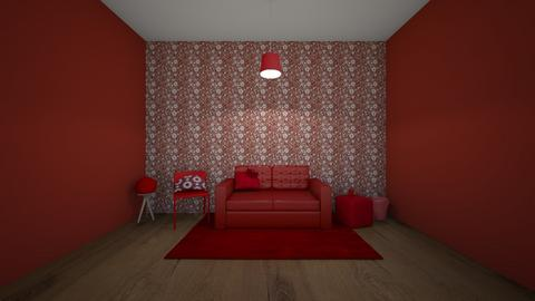 Red room - Living room  - by Hamzah luvs cats