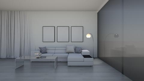 White Minimalist - Living room  - by nellica
