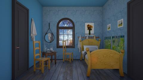 Bedroom in Arles - Vintage - Bedroom  - by BlackOrchidea