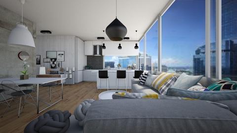 Living room and Kitchen - Minimal - Living room - by Zosia Zakrzowska