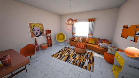 Creamsicle Life - Retro - Living room  - by KajsaRain