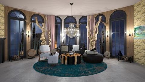 medival luxury - Rustic - Living room  - by BlackOrchidea