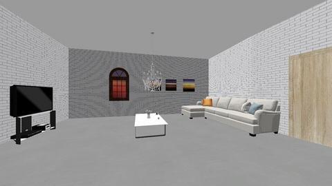 sunset - Living room  - by roselll