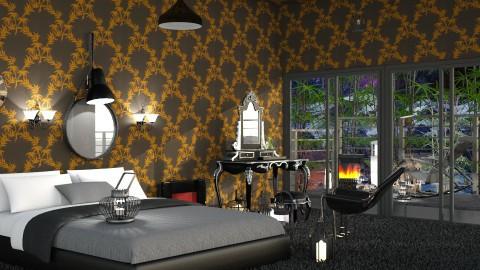 Black Bamboo  - Modern - Bedroom - by InteriorDesigner111
