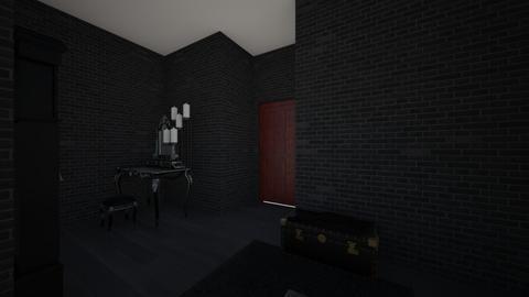 Black room - Minimal - Bedroom  - by Sabrina8605