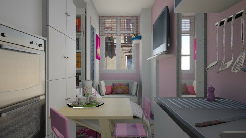 Paris tiny room pink - Modern - by donella
