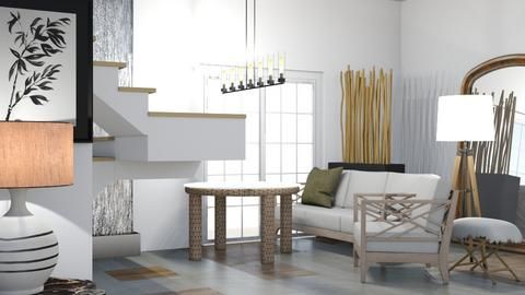 Modern_Rustic - Rustic - Living room  - by kiwimelon711