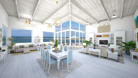 Beach house - Classic - Living room  - by Ali Ruth