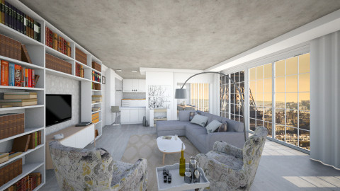 high over the sky  - Modern - Living room - by ostwany_aboud