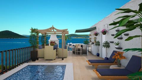 rooftop terrace - by Christine Keller