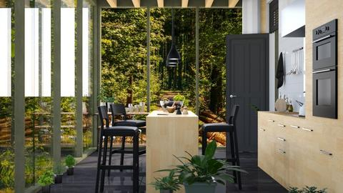 View_5_Forest - Kitchen  - by ArtHousedeco