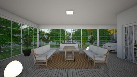 Eclectic_terrace2 - Garden  - by lovasemoke