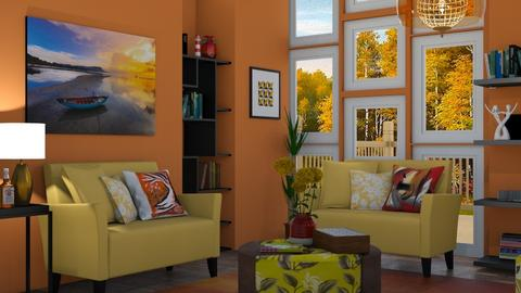 M_Autumn landscape - Modern - Living room  - by milyca8