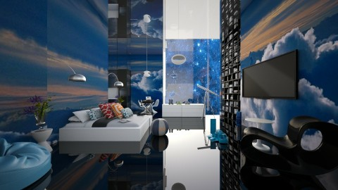 bedroom in spaceees - Modern - Bedroom  - by Evangeline_The_Unicorn