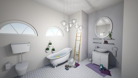 My Lavender bathroom - by sara laitinen