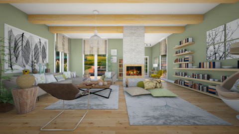 Botanical Touches - Modern - Living room - by janip